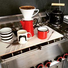 Na taką pogodę tylko kawa! I do pracy! #coffee #sugar  #break #emalia #kitchen #interior #design#cup #vinage #pot #mniam #drop #drip