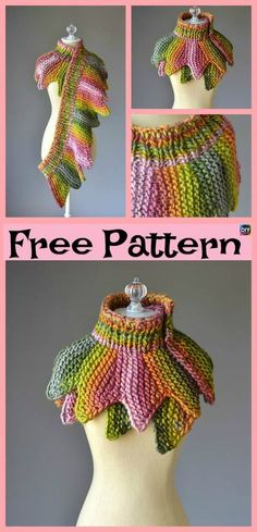 8 Knit Unique Cowls – Free Patterns – DIY 4 EVER – unique knitting ideas Loom Knitting Patterns, Afghan Crochet Patterns, Knitting Patterns Free, Free Pattern, Crochet Afghans, Crochet Scarves, Crochet Clothes, Knit Crochet, Loom Scarf