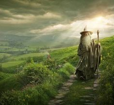 Olórin, (known by Elves as Mithrandir and by Men of the West as Gandalf)Gandalf's ways took him often to the house of Nienna, and from her he learned pity and patience, which perhaps aided him in his later struggles to unite the Free Peoples of Middle-earth against the power of Sauron.