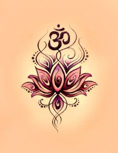 love drawing art black tattoo flower pink Sketch idea doodle buddhism buddha lotus om Namaste ohm More