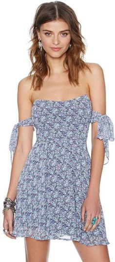 For Love and Lemons Kiss Me Dress - Blue Floral