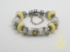 Sharade  - European Charm Bead Bracelet Creation - JEWELS by REGINA - http://www.europeartimport.com/bibrowncr.html