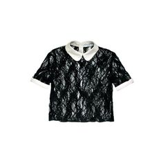 ELLE Shops ❤ liked on Polyvore featuring tops, blouses, shirts, black, shirts & tops, black shirt, black top, opening ceremony shirt and shirts & blouses