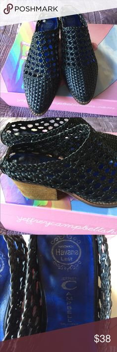 Jeffrey Campbell Armadillo Used only a couple of times. See last picture for minor wear signs. size 6 true to size better for narrow feet. With Box Jeffrey Campbell Shoes Mules & Clogs