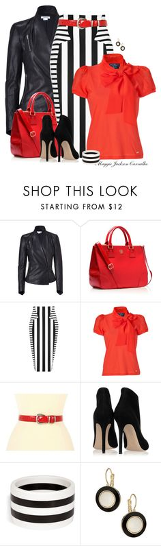 """for the love of stripes"" by maggie-jackson-carvalho ❤ liked on Polyvore featuring Helmut Lang, Tory Burch, Cushnie Et Ochs, Salvatore Ferragamo, Lauren Ralph Lauren, Gianvito Rossi, R.J. Graziano and Wallis"