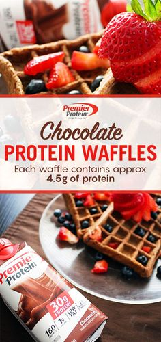 Fuel up for the day with a delicious breakfast. With 30g of protein in Premier Protein, this Chocolate Protein Waffle recipe is sure to satisfy even the hungriest of individuals. Learn how to make this hearty breakfast staple today.