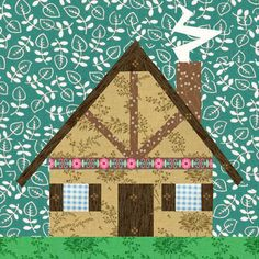 Lovely house paper pieced block