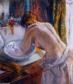 Edgar Degas - La toilette I