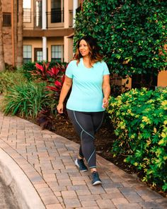 One LIVI Activewear Tee Styled Three Ways   Estrella Fashion Report Third Way, Mint Color, Plus Size Activewear, Lane Bryant, Outfit Of The Day, Tees, Shirts, Active Wear, Personal Style