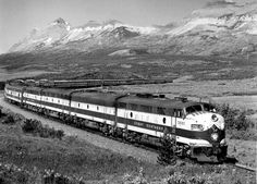 "Eastbound ""Empire Builder"" on ""Old"" line at Rising Wolf, Montana"