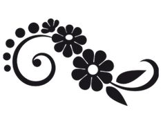 Flower Design The Cut Decal, stickers for gals decals, girls stickers, female . Stencil Designs, Vinyl Designs, Nail Decals, Vinyl Wall Decals, Silhouette Design, Silhouette Cameo, Flower Silhouette, Machine Silhouette Portrait, Stencils