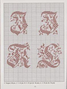 Grandissima raccolta di Schemi e grafici per Punto croce, gratis da scaricare : Monogrammi eleganti
