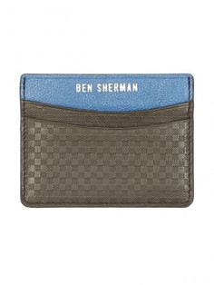 Ben sherman £25 Gingham Emboss Cardholder Ben Sherman, Gingham, Card Holder, Wallet, Emboss, Cards, Men, Summer, Fashion