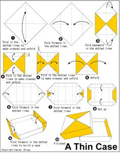 Scatola sottile Thin case – Origami Community : Explore the best and the most trending origami Ideas and easy origami Tutorial Box Origami, Cute Origami, Origami Bookmark, Paper Crafts Origami, Origami Hearts, Origami Flower, Dollar Origami, Origami Ideas, Easy Origami