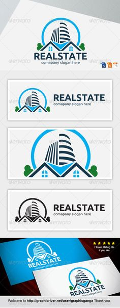 Buy Real Estate by graphicganga on GraphicRiver. File information color(cmyk) Print balck Invert color version (PSD, AI, ourtline, ver-cs ed. Logo Design Template, Logo Templates, Invert Colors, Building Logo, Real Estate Logo, Logo Restaurant, Geometric Logo, Home Logo, Home Insurance