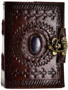 The Eye of the Goddess Book of Shadows has a magickal design with its beautiful handmade leather cover.