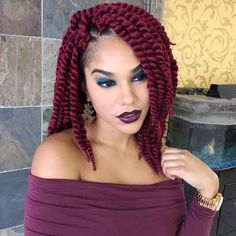 colored crochet braids, corchet braids with red hair, red hair crochet braids, crochet braids hairstyles for black girls, black girls hairstyles, hairstyles for black girls, corchet braids styles for black girls