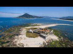 Insua Fort and Moledo Beach aerial view - Caminha - 4K Ultra HD