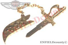 KNIFE SWORD SHAPE BRASS LEFT CUT BLANK KEY ROYAL ENFIELD MOTORCYCLE @AUD Enfield Motorcycle, Side Cuts, Royal Enfield, Motorcycle Accessories, Sword, Brass, Shapes, Key, Motorcycles