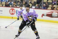 Arizona  The Penguins wore purple Hockey Fights Cancer warmup jerseys to be  auctioned off. All proceeds benefit research at UPMC Hillman Cancer Center  and ... 77cd13cf0