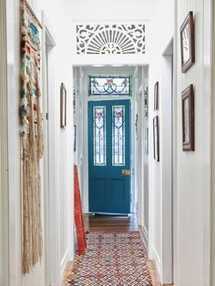 Pretty front entry in home of Rose Jensen-Holm and Dan James — The Design Files Hallway Decorating, Interior Decorating, Exterior Design, Interior And Exterior, Hallway Designs, The Design Files, House Entrance, Beautiful Interiors, Interior Inspiration