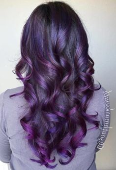 35 Purple Balayage Hair Color Ideas from Subtle to Vibrant - With Hairstyle Ombre Pastel Hair, Bob Pastel, Purple Balayage, Hair Color Balayage, Balayage Hairstyle, Hair Streaks, Faded Hair, Bleached Hair, Faded Purple Hair