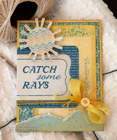 Catch Some Rays Card by Authentique Paper Design Team Member Audrey Pettit #authentiquepaper #artglitter