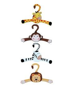 Sunny Safari Nursery Hanger Fantasy Fields by Teamson Safari Room, Safari Nursery, Wood Crafts, Diy And Crafts, Wood Projects, Projects To Try, 3d Laser Printer, Kids Hangers, Safari Animals