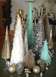 DIY Christmas Forest, instructions at http://thebabsblog.blogspot.com/2012/12/diy-christmas-forest.html