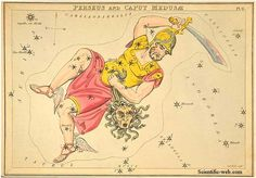 Perseus and Caput Medusae as a constellation.  Artist unknown.