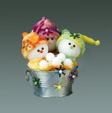 DIY Washtub Snowbabies...includes pattern and instructions