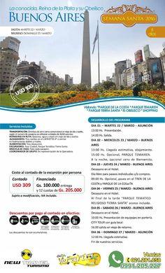 BUENOS AIRES 06 días - Semana Santa 2016