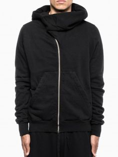 "Hooded ""Mountain"" sweatshirt from the F/W 2013-14 Rick Owens DRKSHDW in black."