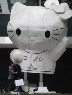 #HK #Hellokitty #parkave #NYC #love #city #NY #hello #kitty #winter #picture #friends #liveurdreamz The most gigantic Hello Kitty I have ever seen! She graced Park Ave making everyday a happy one.Location: Lever House Art Collection, 390 Park Avenue, New York City, NY — between E. 53rd and E. 54th St.