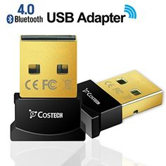 Bluetooth 4.0 USB Adapter, Costech Gold Plated Micro Dongle 33ft/10m Compatible with Windows 10,8.1/8,7,Vista, XP, 32/64 Bit and Wireless USB 2.4GHz for for Desktop , Laptop,computers (black) * Check this awesome product by going to the link at the image.