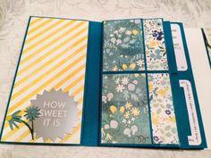 Crafting Passions: Beautiful Blue and Yellow Scrapbook - Foto Folio 2 Style 1 Mini