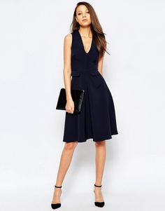 ASOS Tall Pinafore Skater Skirt