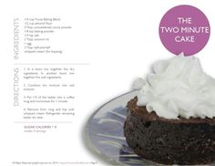 The Two Minute Cake by Jorge Cruise