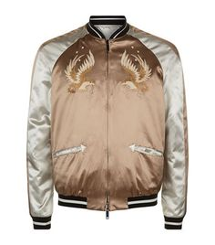 Valentino Eagle Satin Bomber Jacket available to buy at Harrods. Shop men's designer clothing online and earn Rewards points.