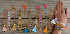 Nuevo Pulsera de la amistad OOAK en hermosos colores por BonkIbiza