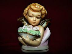 Vintage Porcelain Inarco Angel Figurine Display