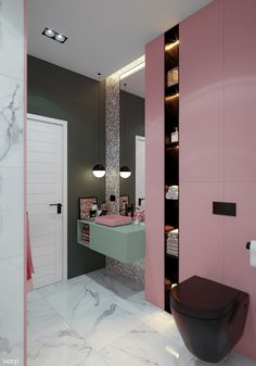 30 Pastel Decor Trending This Winter - Interior Design Pastel Decor, Toilet Room Decor, Decoration Inspiration, Decor Ideas, Design Inspiration, Design Ideas, Girl Bedroom Designs, Bathroom Interior Design, Cozy House