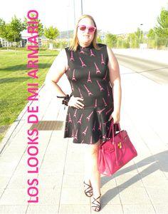 http://www.loslooksdemiarmario.com/2014/07/paris-un-romance-en-verano-quien-dice.html vestido @hm fucsia