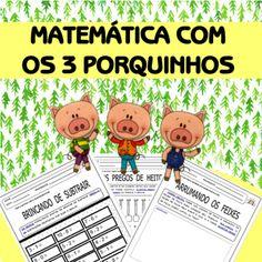 Matemática com os 3 porquinhos