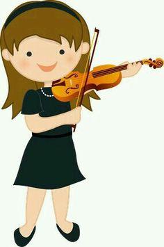 Minus niña tocando violín (músical) Pelo Color Violin, Violin Tumblr, Piano Y Violin, Music Rock, Music Lessons For Kids, Music School, Cute Clipart, Music Images, Cat Crafts