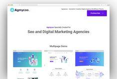 Best Creative Digital Agency WordPress Themes 2020 - New Template Seo Digital Marketing, One Page Website, Seo Agency, Creative Portfolio, Competitor Analysis, Start Up Business, Website Template, Creative Business, Wordpress Theme