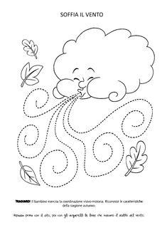 Blog scuola, Schede didattiche scuola dell'infanzia, La maestra Linda, Schede didattiche da scaricare, Fall Preschool Activities, Preschool Writing, Weather Activities, Homeschool Kindergarten, Preschool Worksheets, Preschool Crafts, Preschool Classroom, Cardboard Crafts Kids, Roman Clock