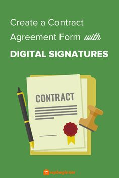 Do you want to create an online contract agreement form with digital signatures, to get your contracts signed faster? In this article, we show you how. E Signature, Digital Signature, Volunteer Application, Contract Agreement, Signed Contract, Form Builder, Code Of Conduct, Content Area, New Employee
