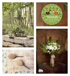 Rustic Woodland Wedding Inspiration....I like the woodsy theme with the elegance of the lace tablecloth