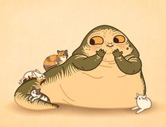 Jabba loves kitties